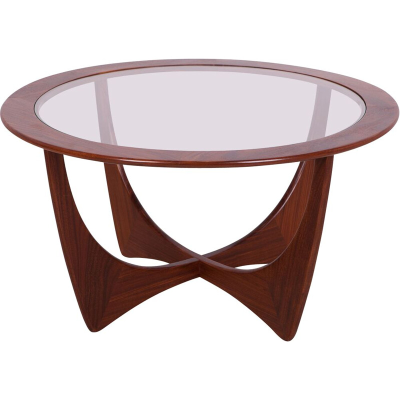 Vintage round teak Astro coffee table by Victor Wilkins for G-Plan, 1950s