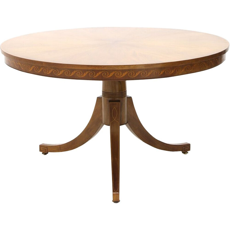 Vintage walnut table by Paolo Buffa executed by Marelli and Colico, 1950's