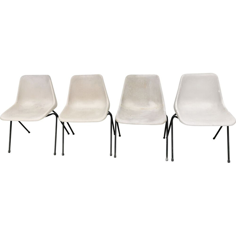 4 vintage chairs by Robin Day Polyprop