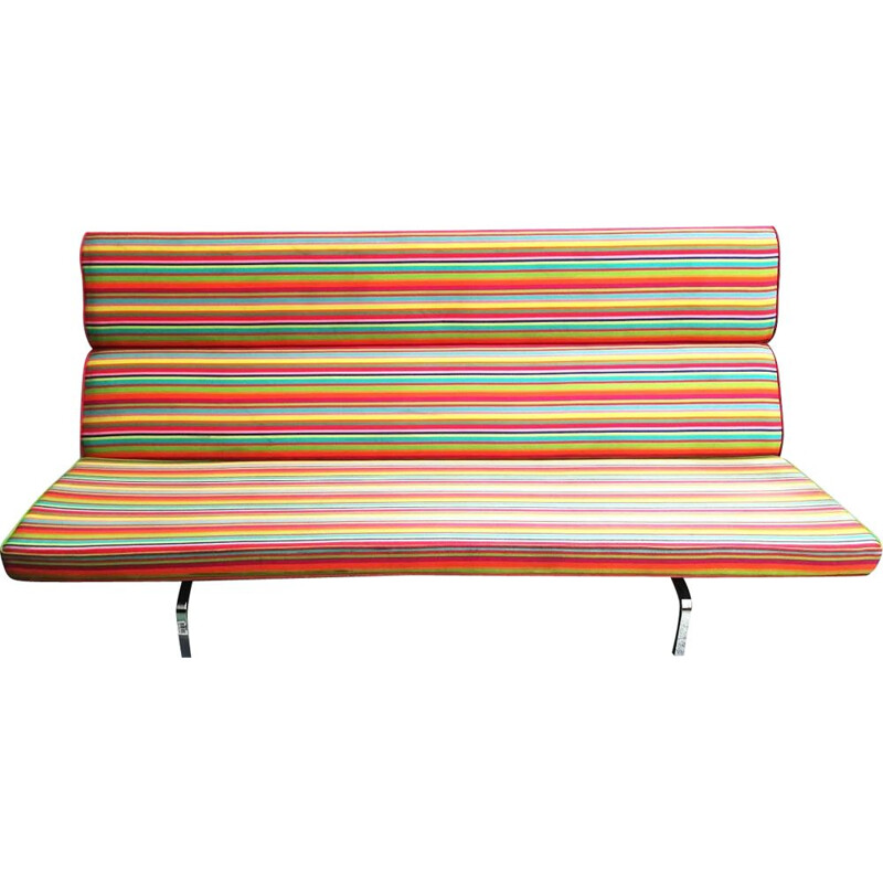 Vintage folding sofa S-473 by Eames for Vitra