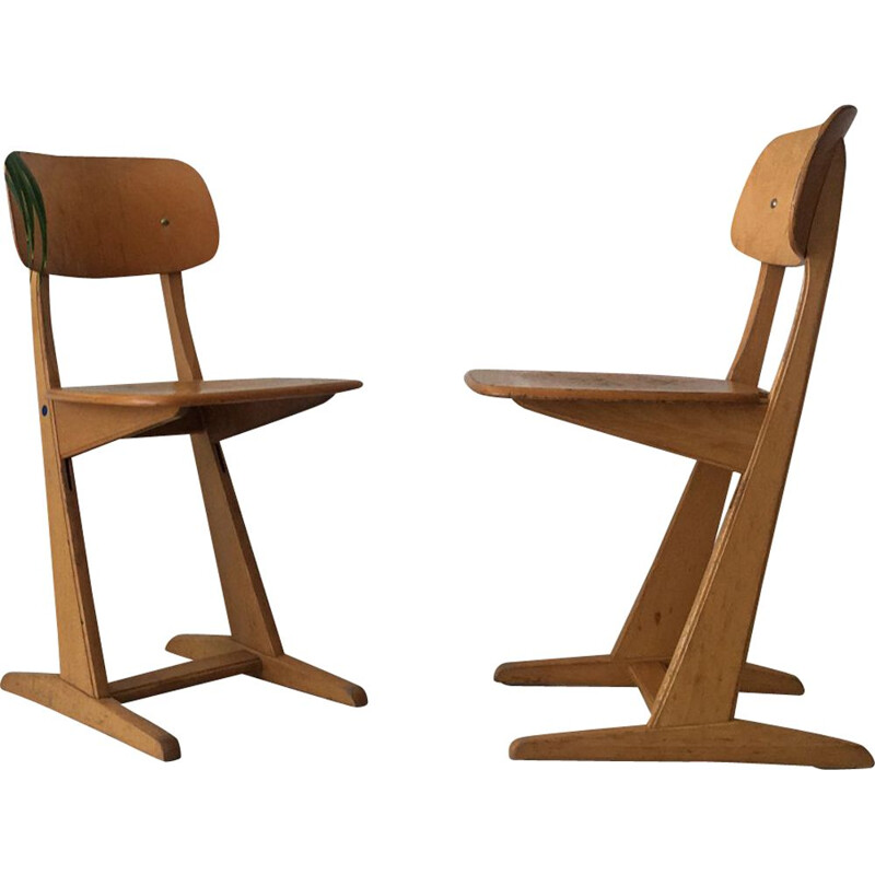 Vintage set of 2 adult Casala chairs, 1960s