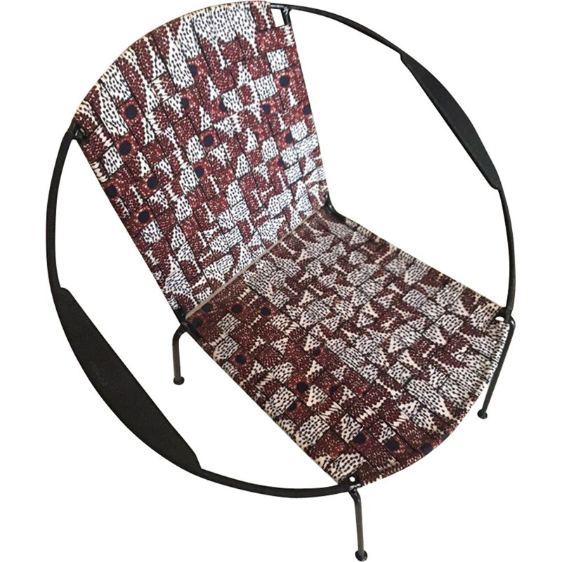 Wax patterned vintage armchair in cotton