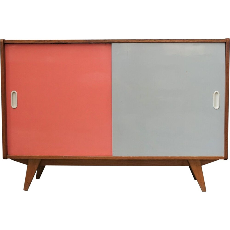 Small vintage U-542 cabinet Pink-white edition by Jiroutek