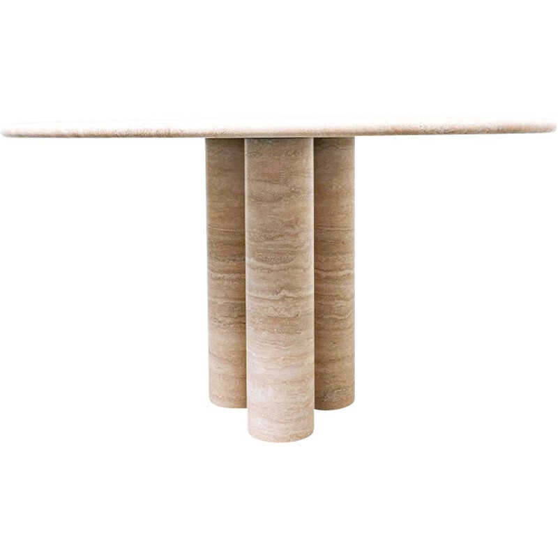 Mid-century travertine dining table by Mario Bellini, Italy 1970s