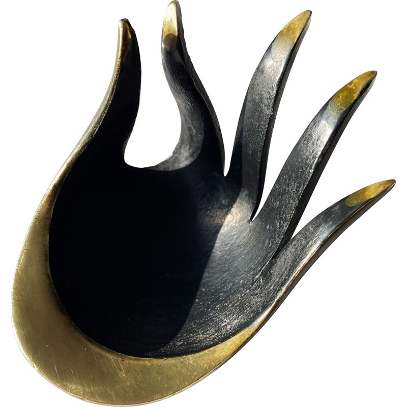 Vintage ashtray in patinated bronze by Herta Baller, Austria 1960s