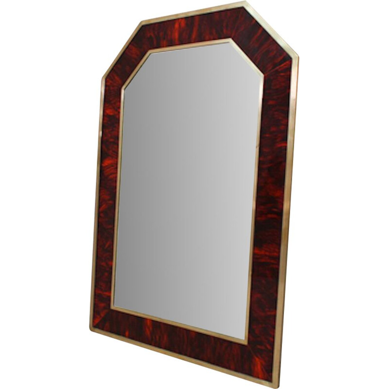 Vintage mirror in wood and Brass, 1940s
