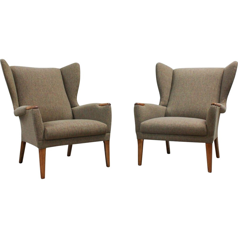 Set of 2 wingback armchairs vintage from Parker Knoll, UK 1960s