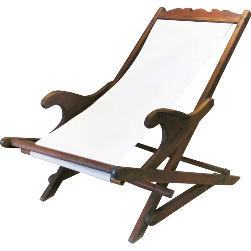 Vintage folding rocking chair, Portugal 1930s