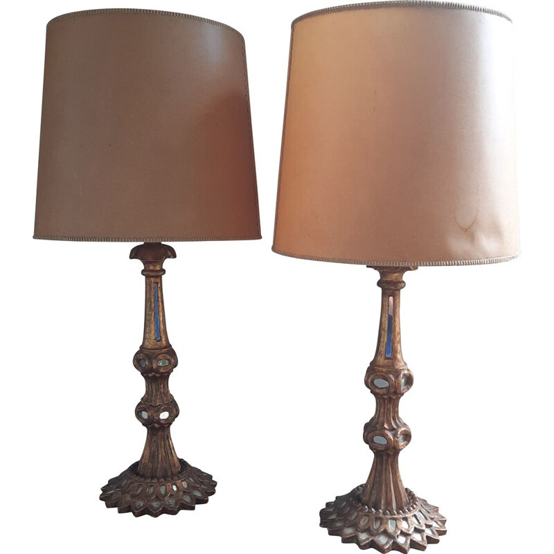 Pair of vintage lamps, Italy 1950s