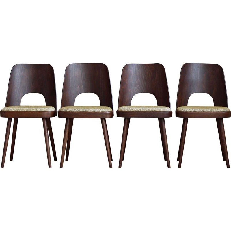 Set of 4 dining chairs vintage by Oswald Haerdtl for M. Josef Hoffmann, 1950s