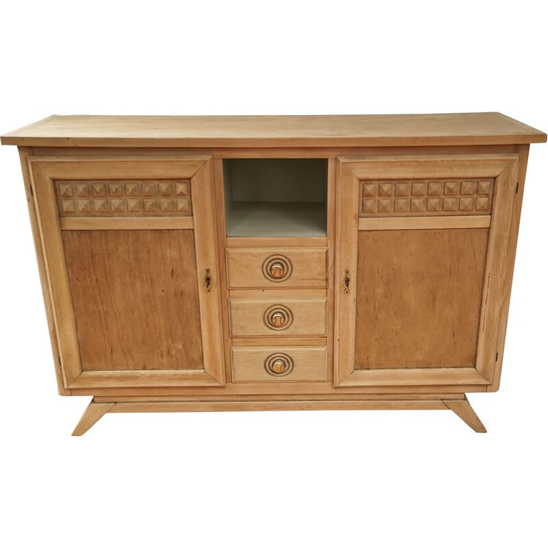 Modernist vintage sideboard with 2 doors and 3 drawers