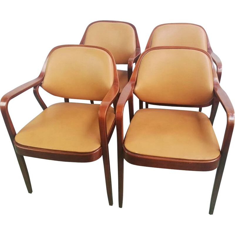 Set of 4 vintage 1105 side chairs by Don Petitt for Knoll