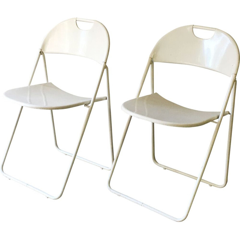 Pair of vintage folding chairs, 1980s