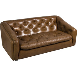 Artifort couch in leather, Geoffrey HARCOURT - 1960s