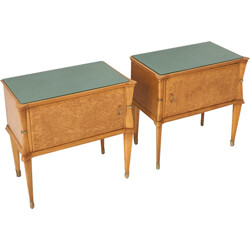 Set of 2 Italian nesting tables in wood - 1950s