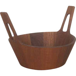 Italian Anri Form bowl in teak wood - 1960s