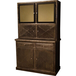 Large industrial highboard in cast iron - 1940s