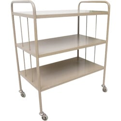 Industrial Tubax grey serving trolley - 1960s