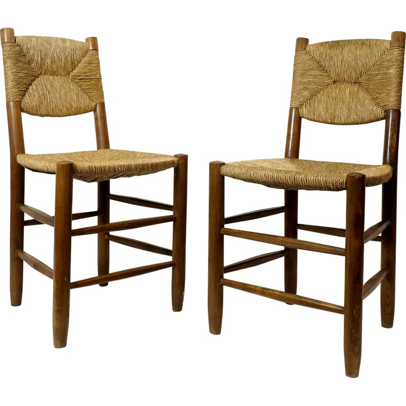 Pair of vintage chairs n 19 by Charlotte Perriand, 1939s