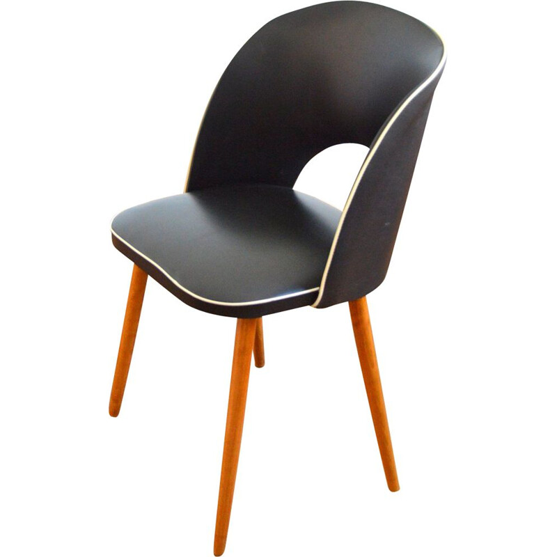 Vintage black cocktail chair by Rockabilly, 1950-1960s