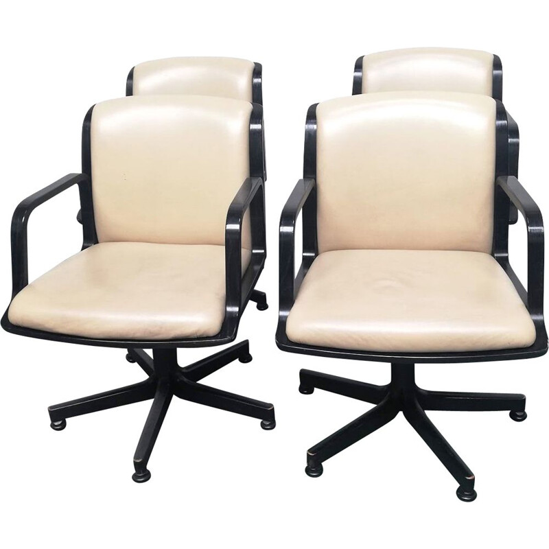 Set of 4 vintage office chairs from Comforto