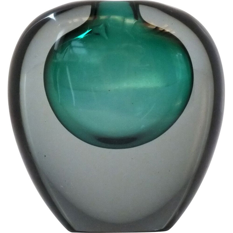 Vintage Summerged glass vase by Da Ros Antonio for Cenedese, 1960s