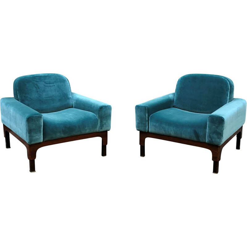 Pair of vintage Romantica armchairs by Paolo Ranzani, 1963s