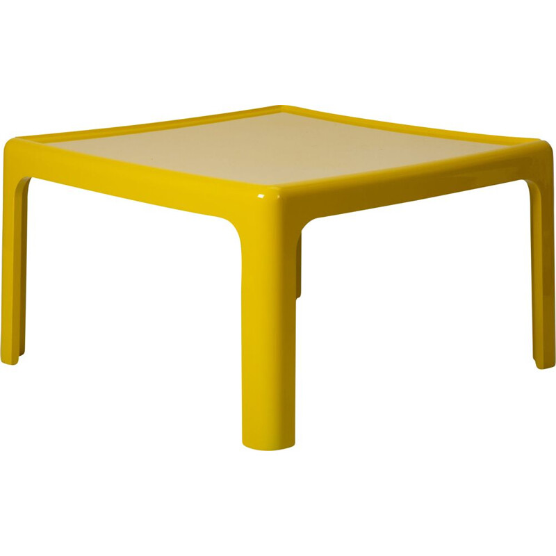 Vintage yellow coffee table by Peter Ghyczy for Horn Collection