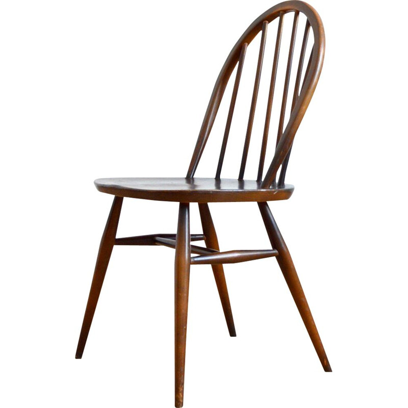 Vintage Windsor chair in elm wood by Lucian Ercolani for Ercol, 1960s