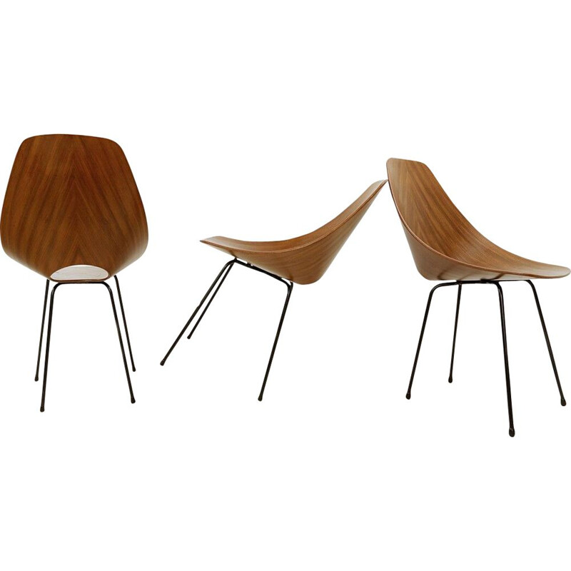 Set of 3 vintage Medea dining chairs by Vittorio Nobili, Italy 1955s