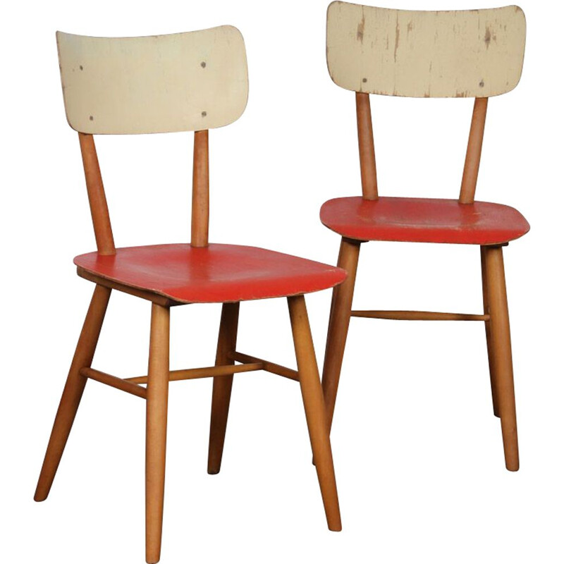 Pair of vintage chairs for Ton, Czechoslovakia 1960s