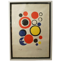 """Lithography """"Moon and Sphere"""", Alexander CALDER - 1970s"""