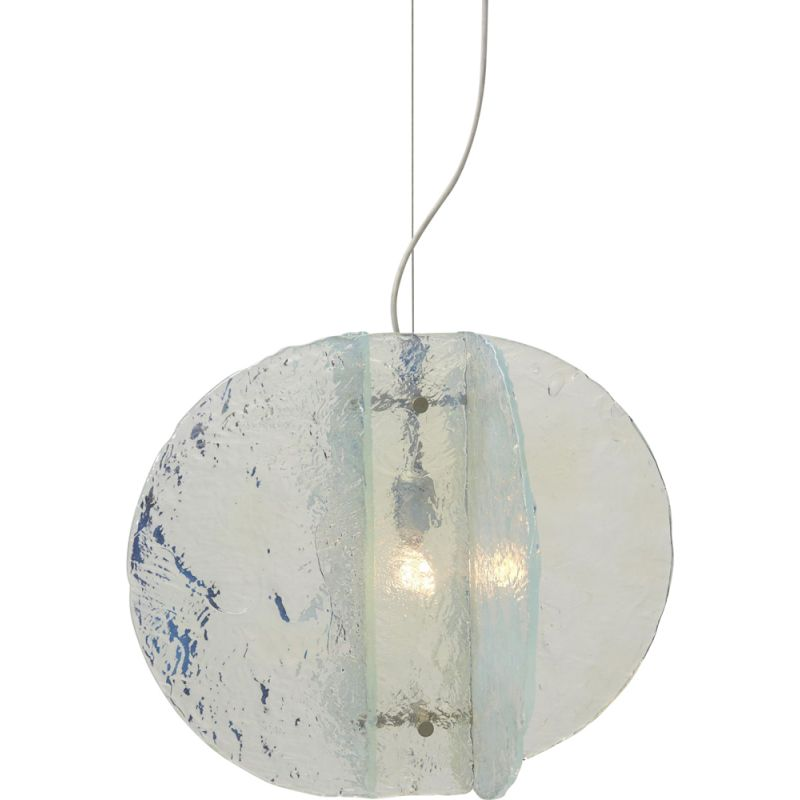 Vintage opalescent pendant lamp by Carlo Nason for Mazzega, Italy 1960s