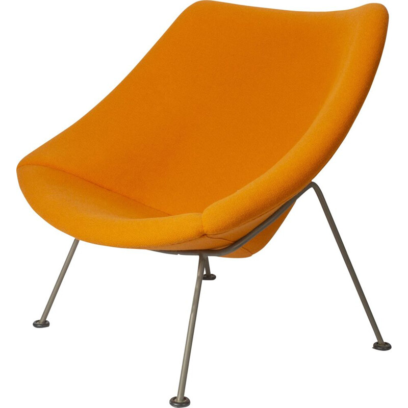 Vintage orange Oyster lounge chair by Pierre Paulin for Artifort