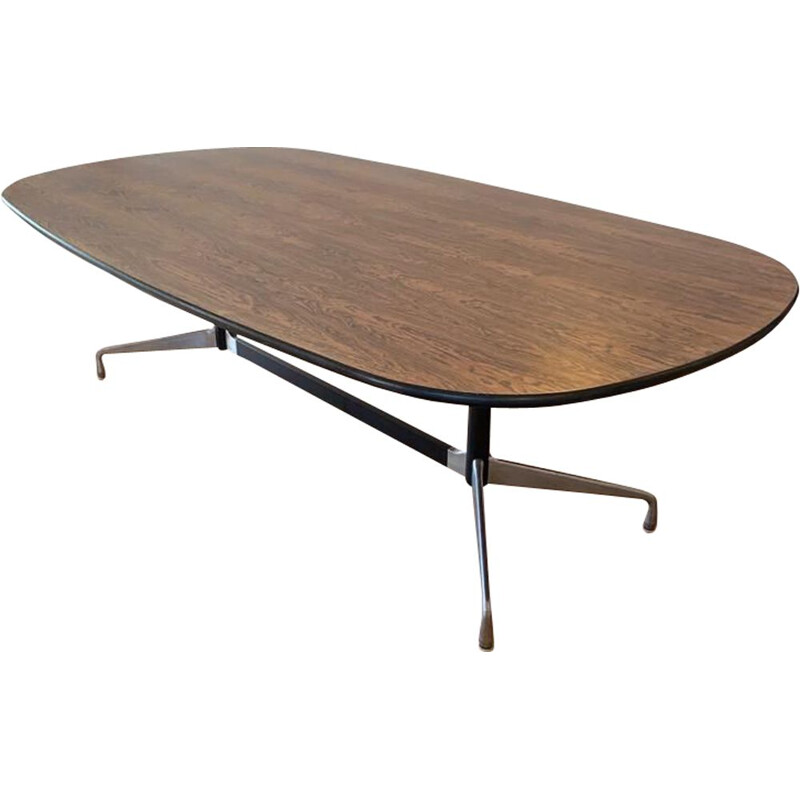 Vintage oval rosewood table by Charles and Ray Eames for Herman Miller