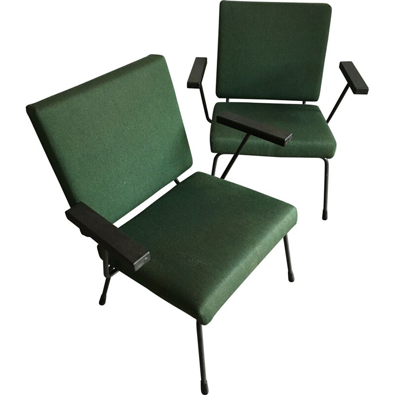 Pair of vintage model 4151401 armchairs by Wim Rietveld for Gispen, 1960s