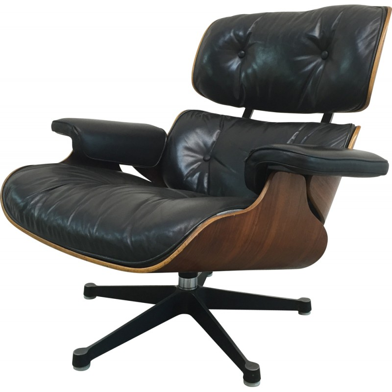 Fauteuil Lounge Produced By Mobilier International By Charles Et Ray - Fauteuil lounge eames