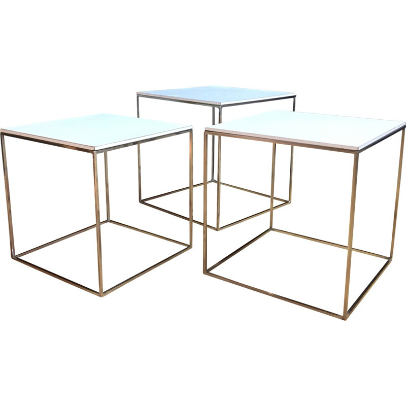 Set of 3 PK 71 coffee tables, Poul KJAERHOLM - 1950s