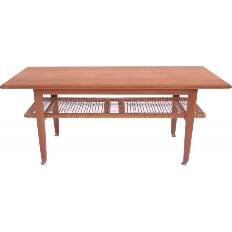 Beau Swedish Coffee Table With Double Top In Teak   1950s