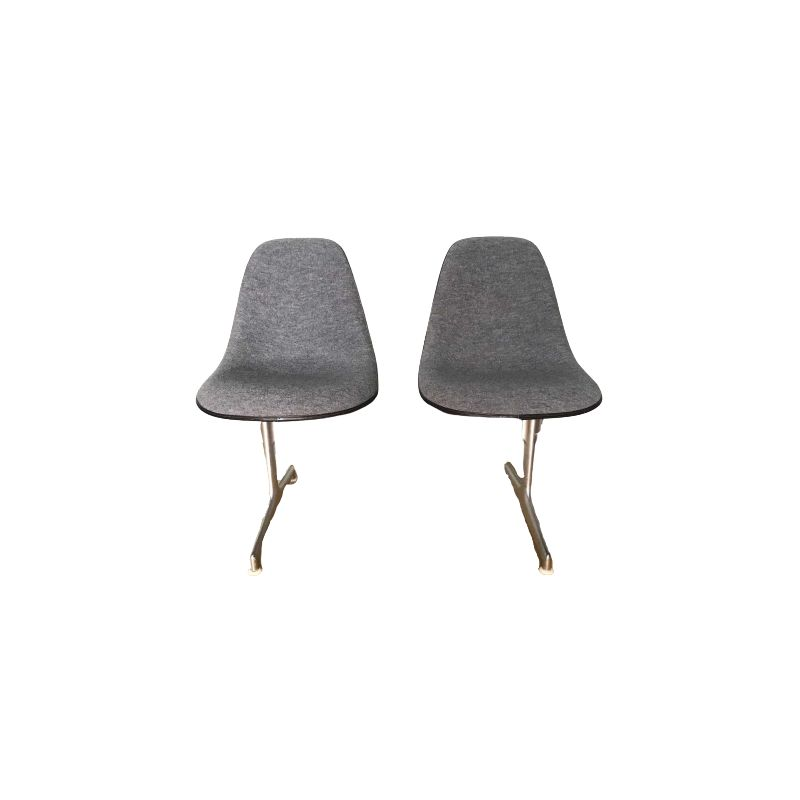 Vintage Waiting Benche by Charles Eames for Vitra 1950
