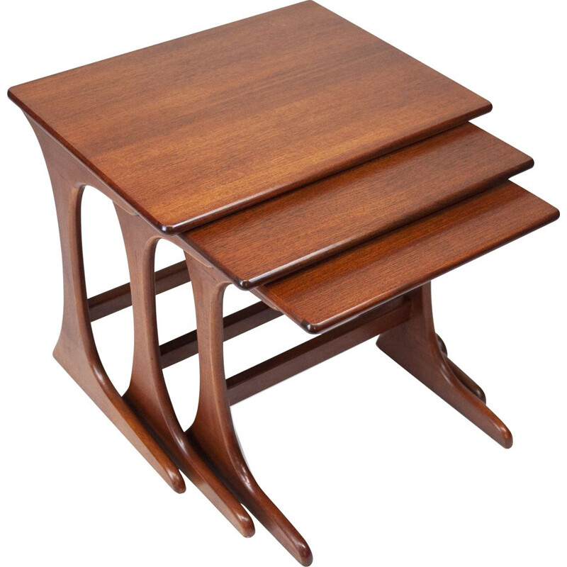 Vintage nesting tables by Victor Wilkins for G Plan, UK 1970s