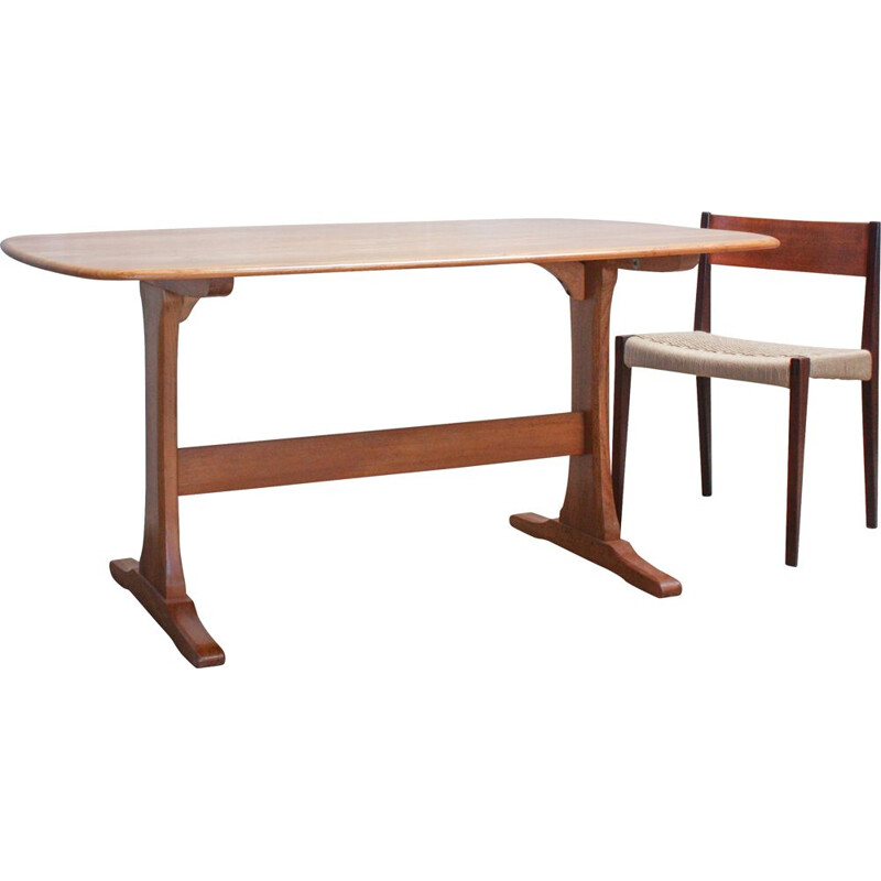 Vintage elm table by Lucian Ercolani for Ercol, UK 1960s
