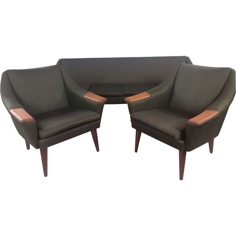 Set of vintage living room with sofa bed by IP Langlo, Norway 1960s