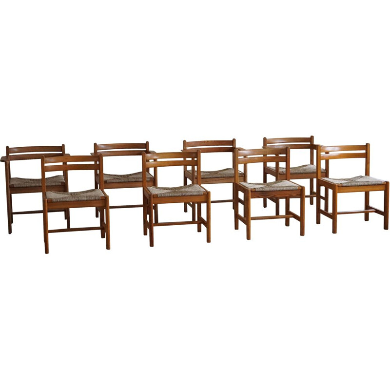 Set of 8 vintage dining chairs by Børge Mogensen for AB Karl Andersson & Söner, 1970s