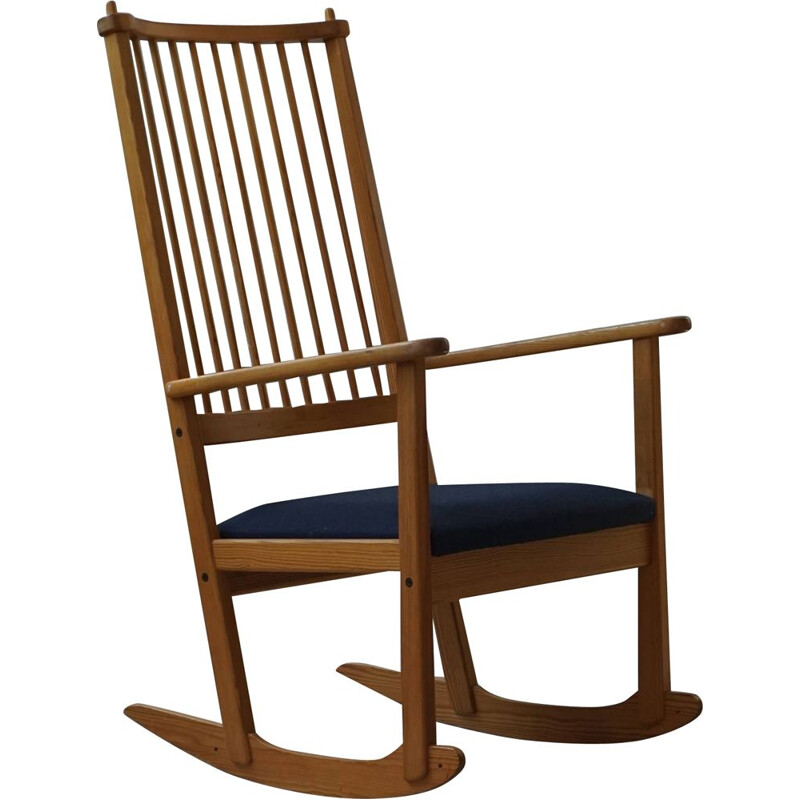 Mid-century rocking chair in pine by Yngve Ekström for Swedese, 1970s