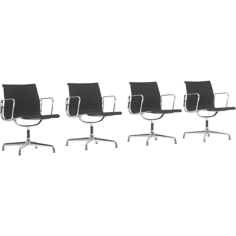 Set of 4 EA108 vintage armchairs by Charles & Ray Eames for Vitra