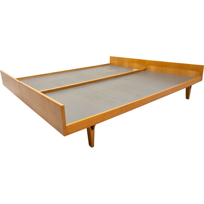 Vintage double bed from Nový Domov, Czechoslovakia 1970s