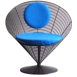 "Fritz Hansen ""8800"" V chair in steel, Verner PANTON - 1980s"