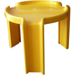 Set of Kartell nesting tables in yellow ABS plastic, Giotto STOPPINO - 1970s