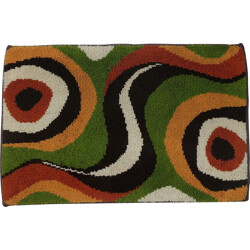 Hand-made rug in multiple colors - 1970s